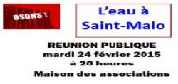Contestons le tarif 2015 de l'eau à Saint-Malo – REUNION PUBLIQUE le 24 FEVRIER
