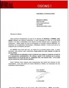 lettre au maire salle médiathèque
