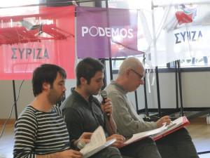 Alberto SERRANO au micro lors de notre conférence du 18 avril 2015