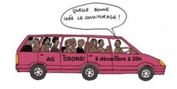 COVOITURAGE pour venir à l'AG d'OSONS!