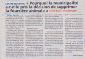 Privatisation de la fourrière animale