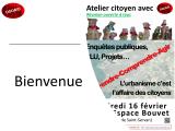 Atelier urbanisme du 16 février 2018 : Osons! le partager !
