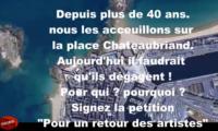 Pour un retour des artistes place Chateaubriand à Saint-Malo